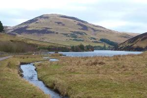 Logan Burn Looking to Glencorse Reservoir