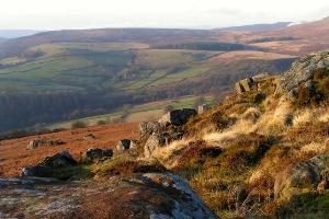 Carhead Rocks looking towards North Lees